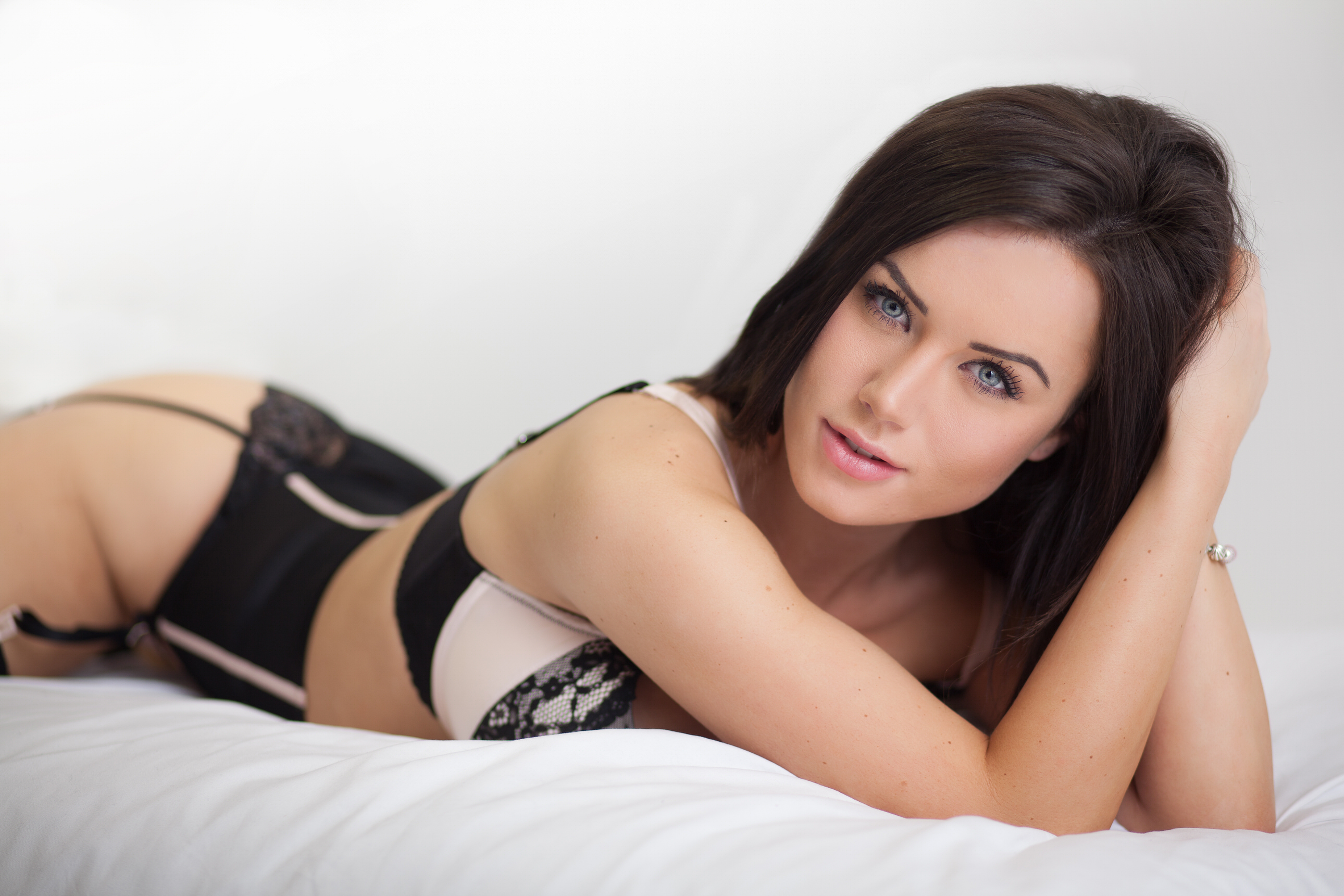lingeree photo with model in black underwear by Boudoir Photographer Lancashire