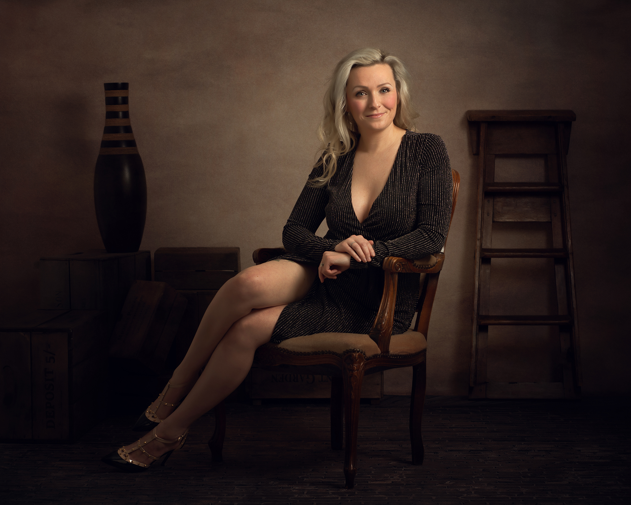 Blonde woman in professional business branding shoot by Portrait photographer Preston