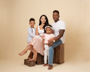 family studio photograph by Family photographer Lancashire