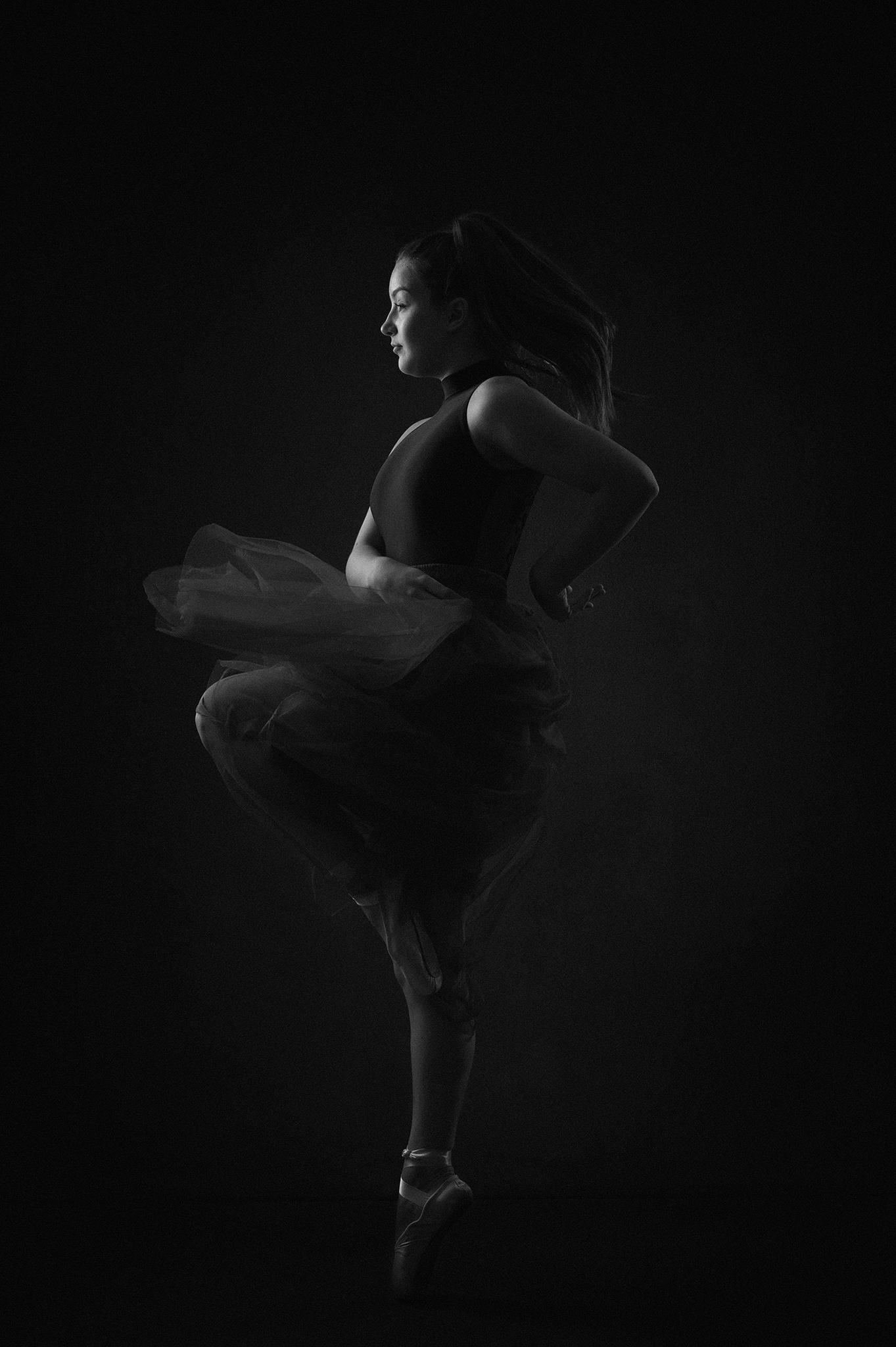 ballet dancer photoshoot by Portrait photographer Preston