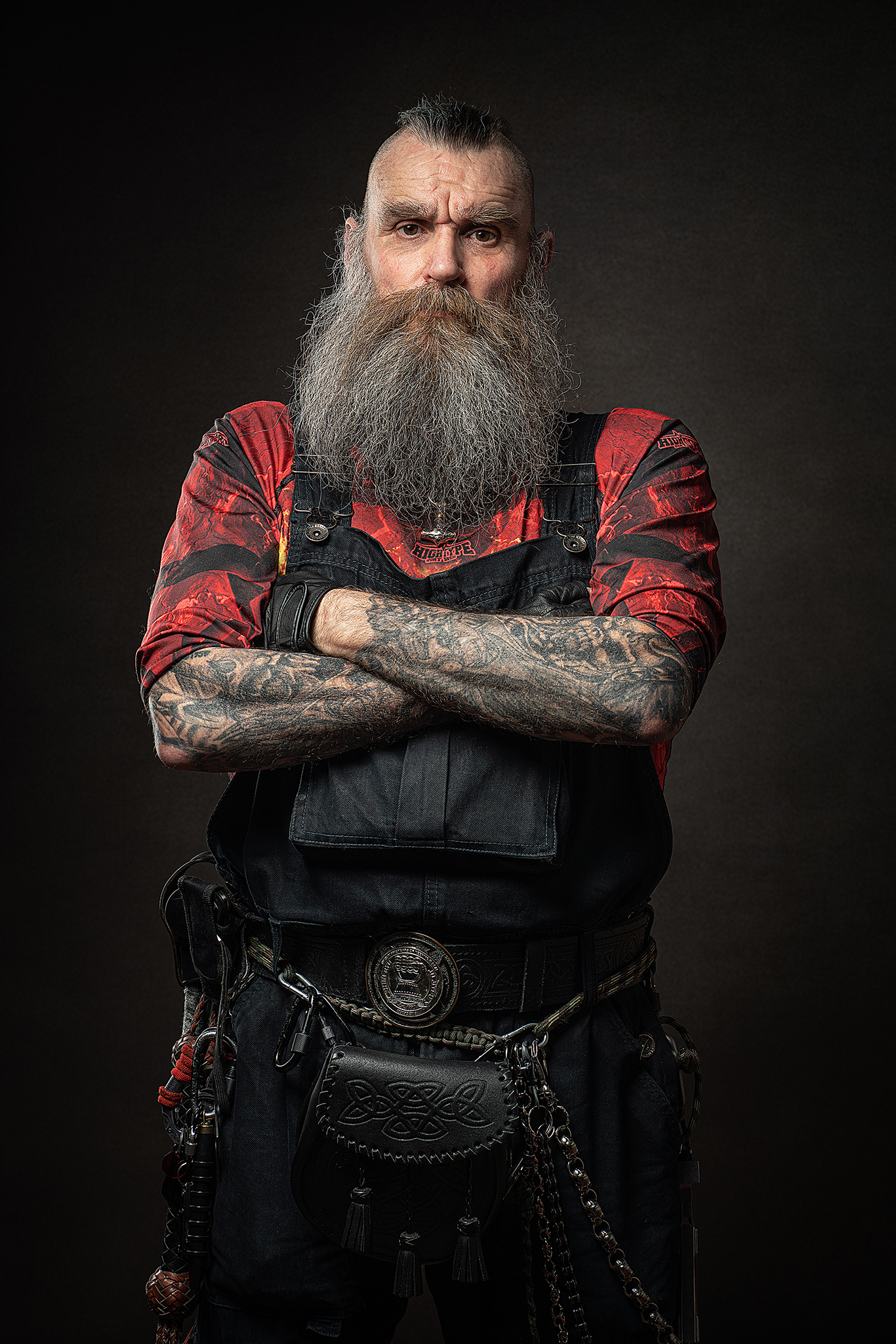 man with beard in studio by Portrait photographer Preston