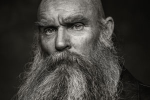 Older man with beard headshot by Portrait photographer Preston