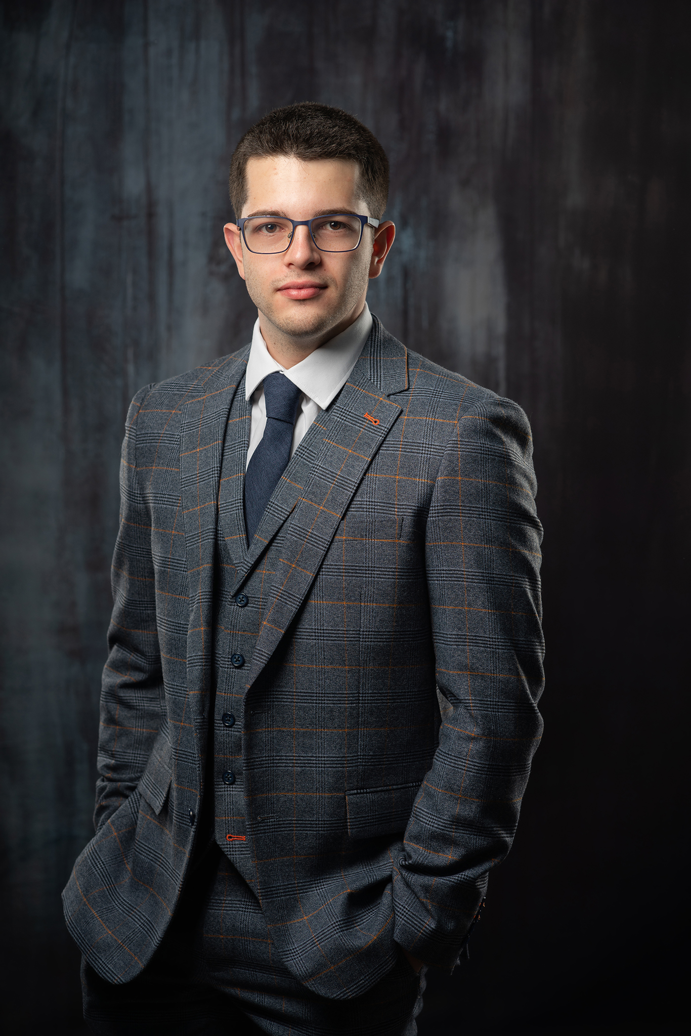 man in suit business headshot by Portrait photographer Preston