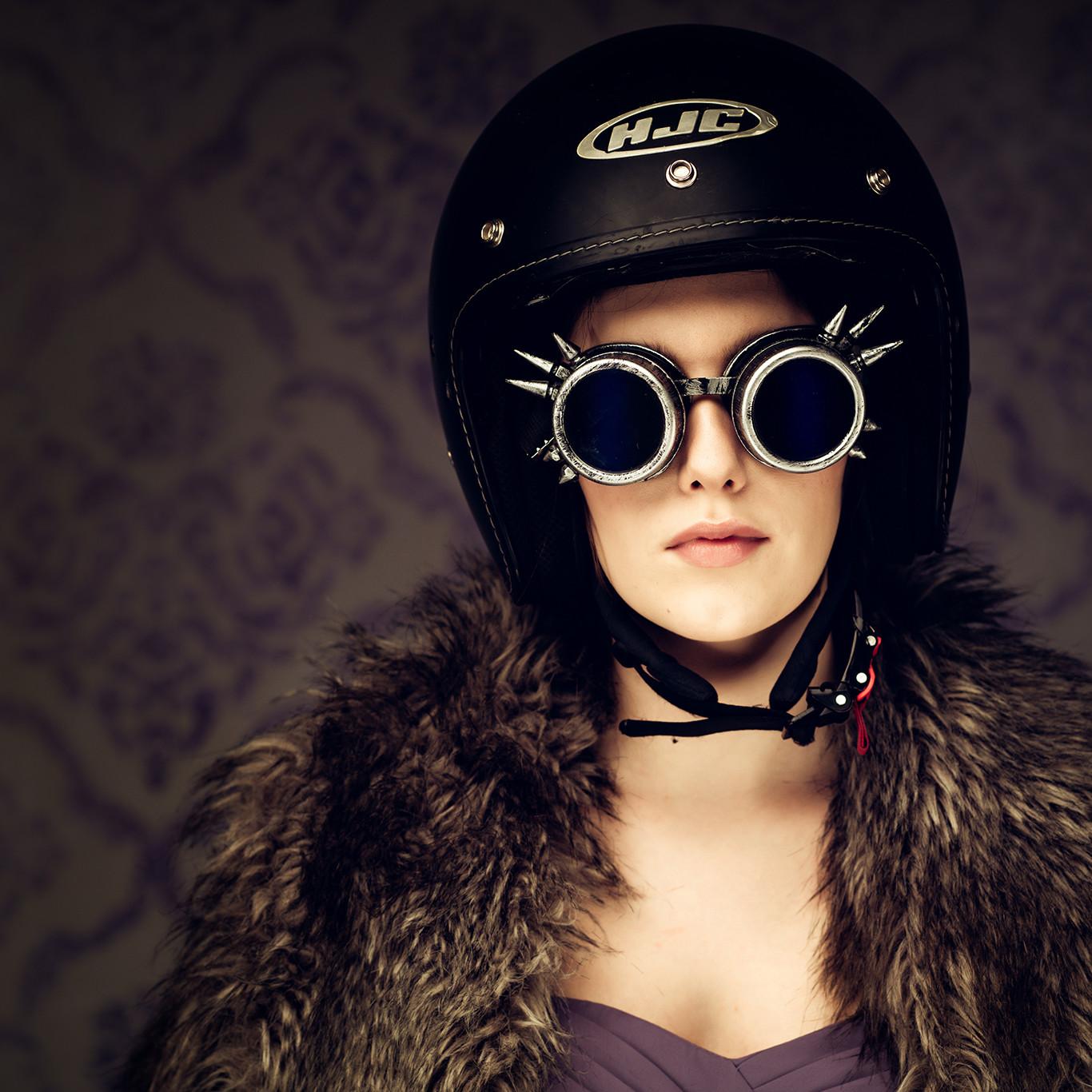 Model in kelmet funky shoot by Portrait photographer Preston