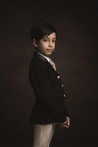 boy child model portfolio styled shoot in studio by Portrait photographer Preston