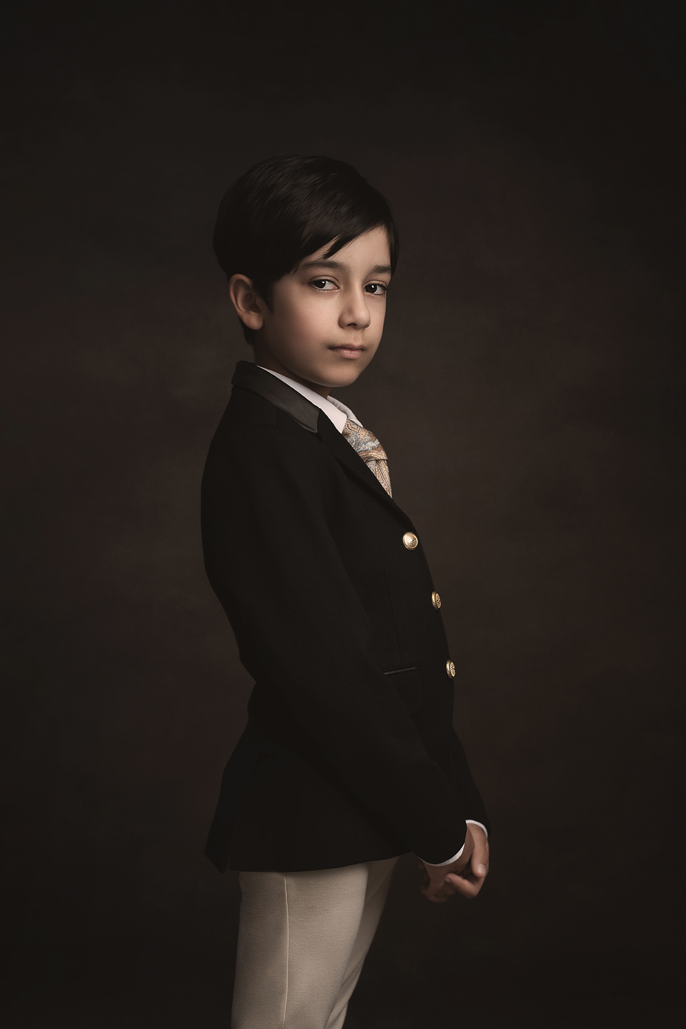 boy child model portfolio styled shoot in studio by Portrait photographer Preston