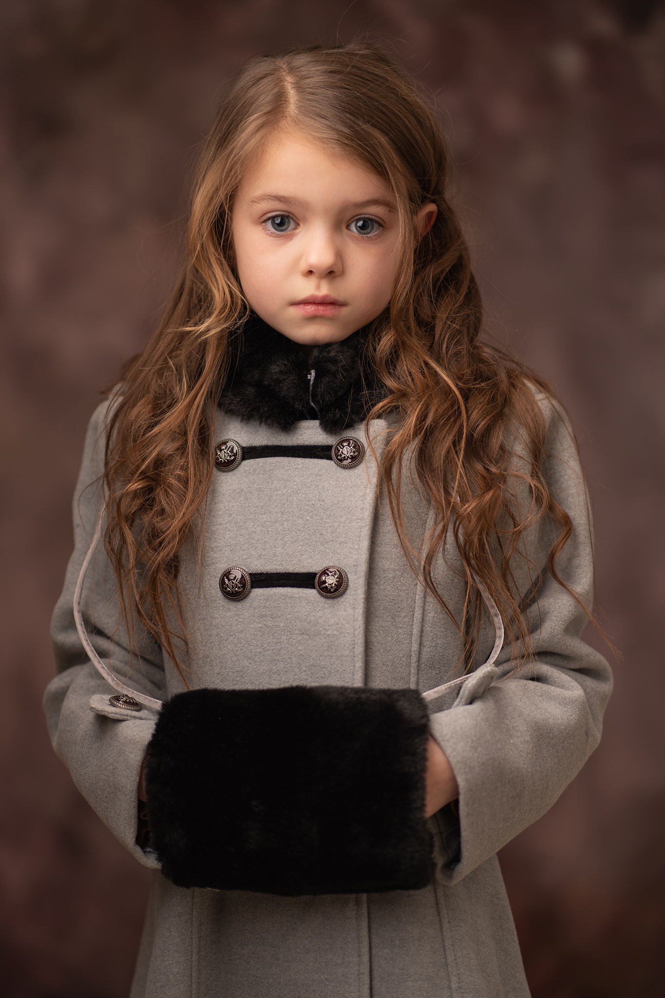 Child model portfolio portrait in studio by Portrait photographer Preston