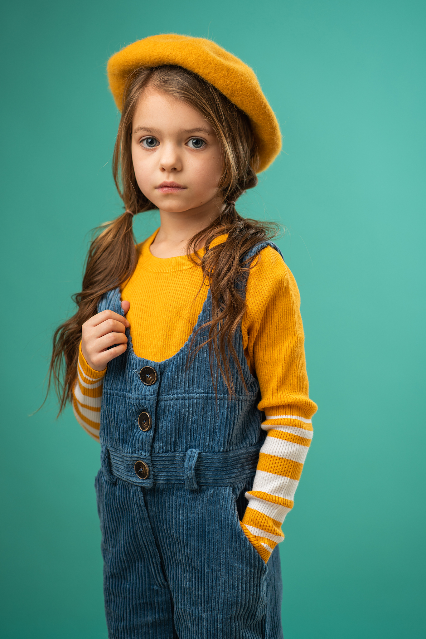 child model portfolio studio photograph by Portrait photographer Preston