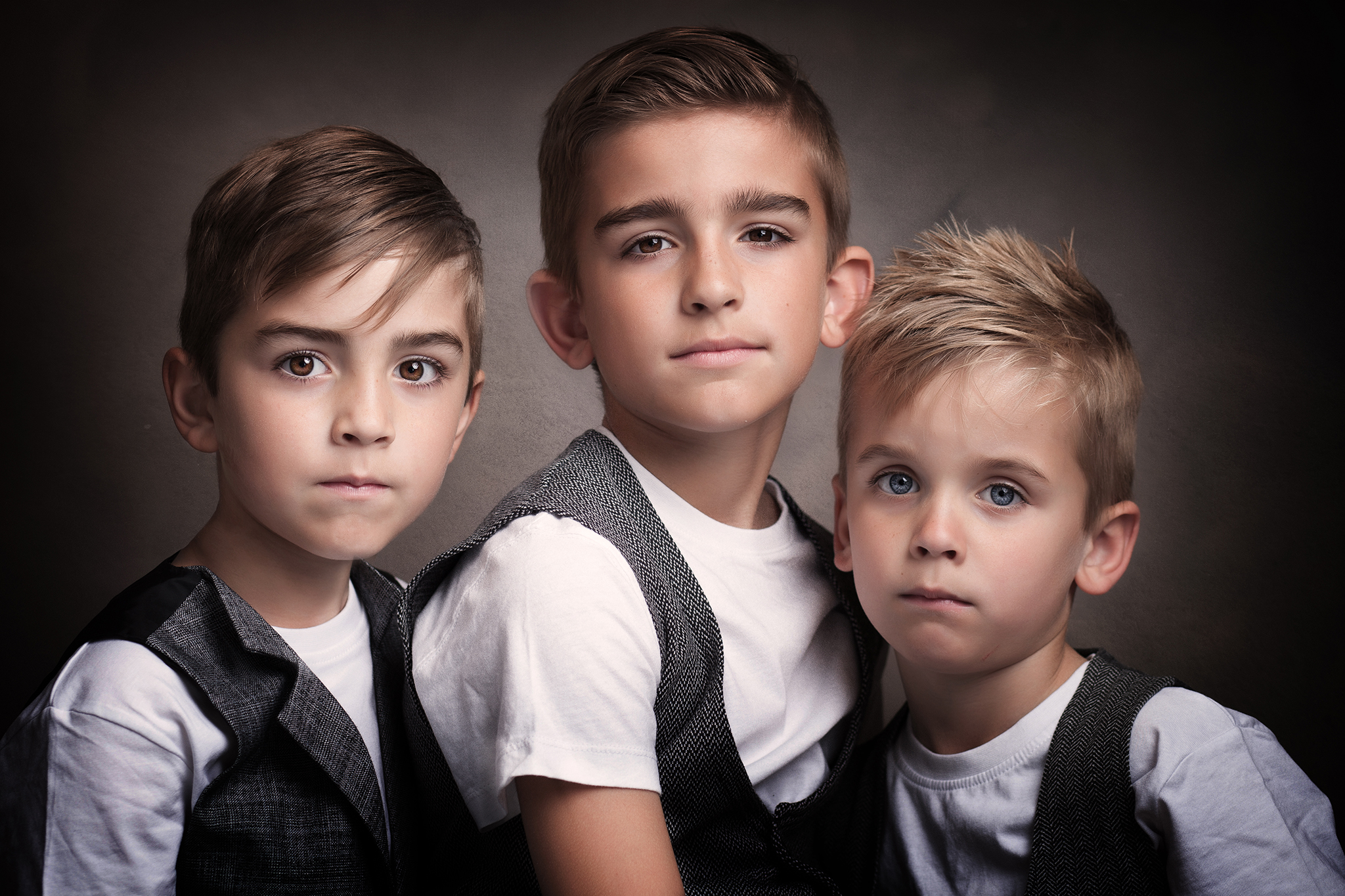 three boys in smart family photograph by Family photographer Lancashire