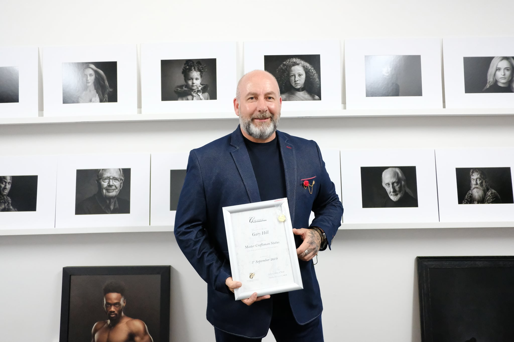 Gary Hill Master Craftsman award for timeless portraits