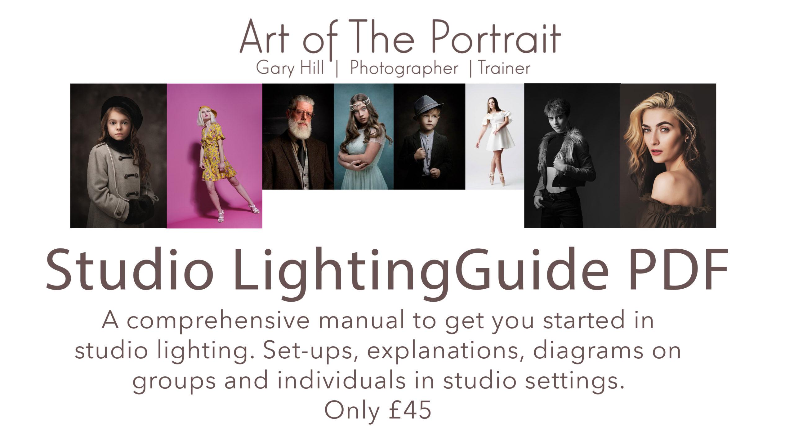 Online photography training - studio lighting guide