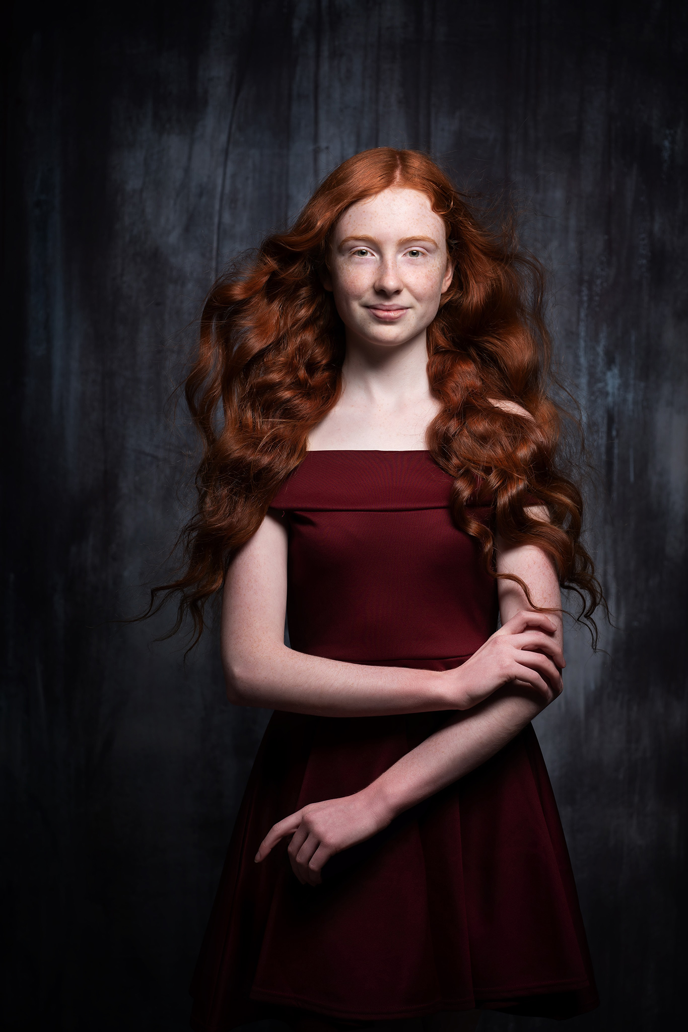 portrait of red head with editing tips for photographers